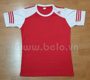 Áo bóng đá không logo adidas màu đỏ tay trắng mã AKLG40-2016