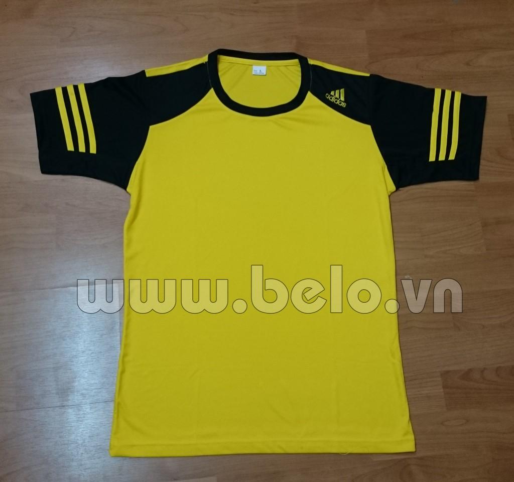 Áo bóng đá không logo adidas màu vàng tay đen mã ALKG41-2016