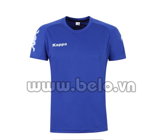 Áo bóng đá Kappa xanh biển thun thái co dãn