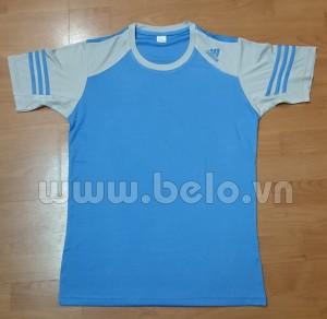 Áo bóng đá không logo adidas màu xanh ngọc tay xám mã AKLG42-2016