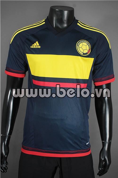 Áo bóng đá đội tuyển Colombia 2015-2016 sân khách
