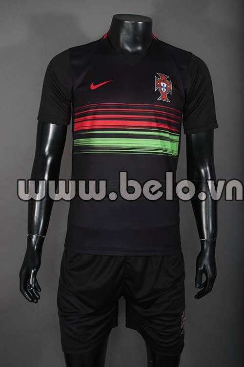 Áo bóng đá Bồ Đào Nha đen 2015-2016 sân khách
