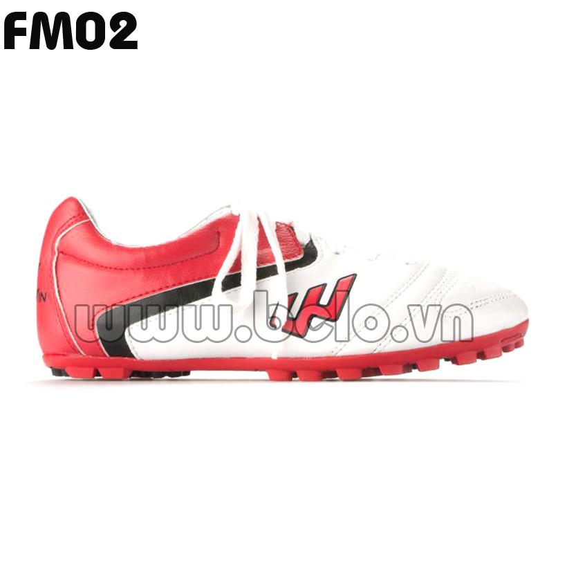 Giày bóng đá Prowin mã FM02 màu đỏ trắng