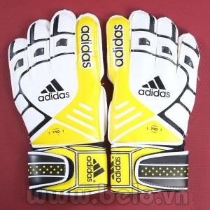 Găng tay thủ môn Adidas Pro màu trắng pha vàng cao cấp