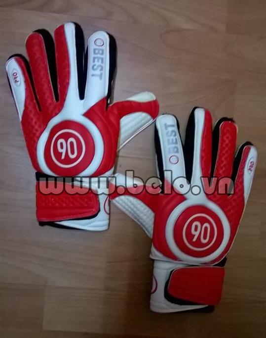 Găng tay thủ môn chính hãng Best 90 màu đỏ pha trắng
