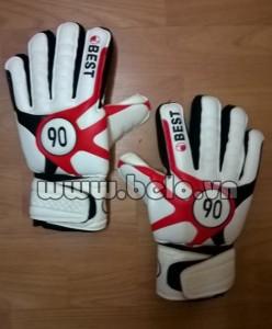 Găng tay thủ môn Best 90 giá rẻ màu trắng pha đỏ