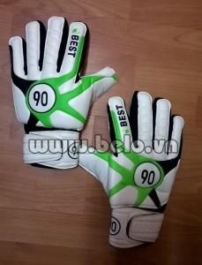 Găng tay thủ môn Best 90 giá rẻ màu trắng pha xanh