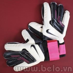 Găng tay thủ môn cao cấp Nike màu trắng pha đen và hồng