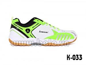 Giày cầu lông, giày bóng chuyền Kawasaki K-033 màu xanh chuối trắng