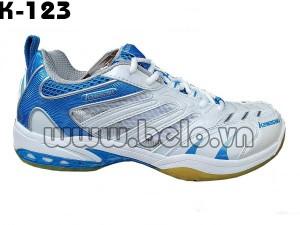 Giày bóng chuyền Kawasaki,giầy cầu lông K123 màu trắng xanh dương