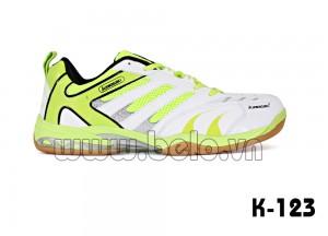 Giày bóng chuyền, giày cầu lông Kawasaki K123 trắng xanh chuối