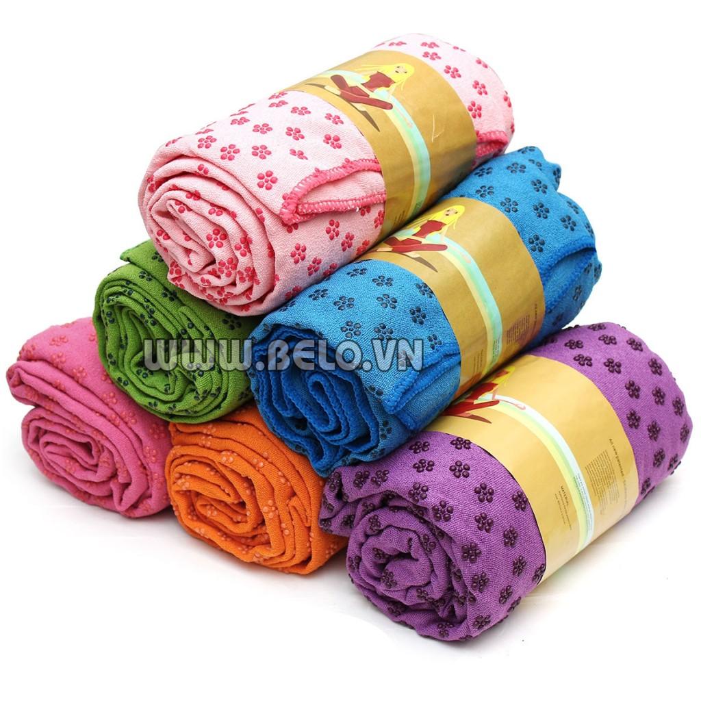 Khăn trải thảm yoga hạt cao su giá rẻ