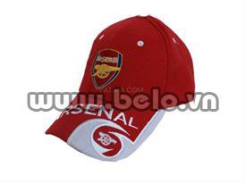 Mũ bóng đá CLB Arsenal đỏ năm 2016
