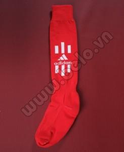 Tất bóng đá adidas màu đỏ