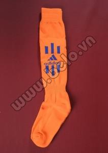 Tất bóng đá Adidas cao cấp màu cam giá rẻ