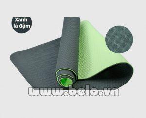 Thảm tập Yoga  TY006 2 lớp xanh lá đậm chính hãng