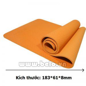 Thảm tập yoga  TY207 1 lớp màu cam đậm chính hãng