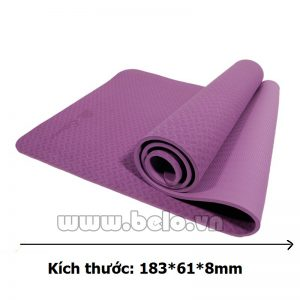 Thảm tập yoga  TY205 1 lớp màu tím đậm chính hãng