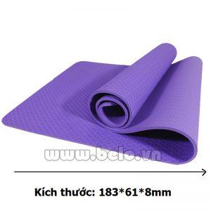 Thảm tập yoga  TY205 1 lớp màu tím nhạt chính hãng