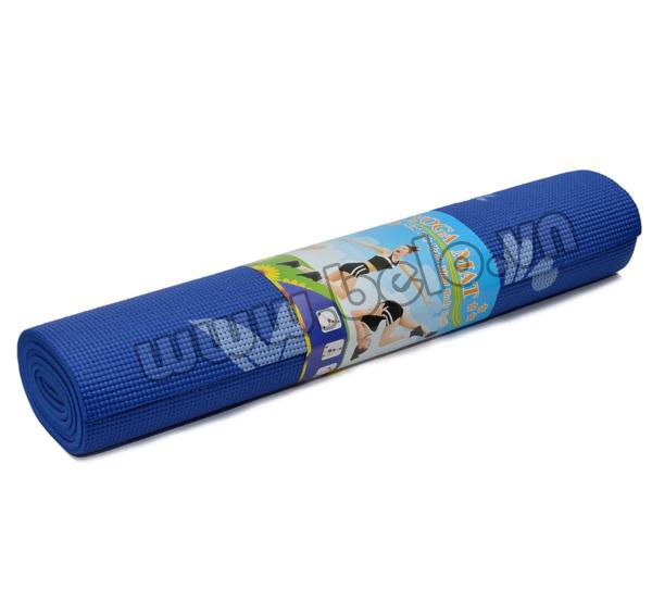 Thảm tập Yoga PVC màu xanh dương có họa tiết