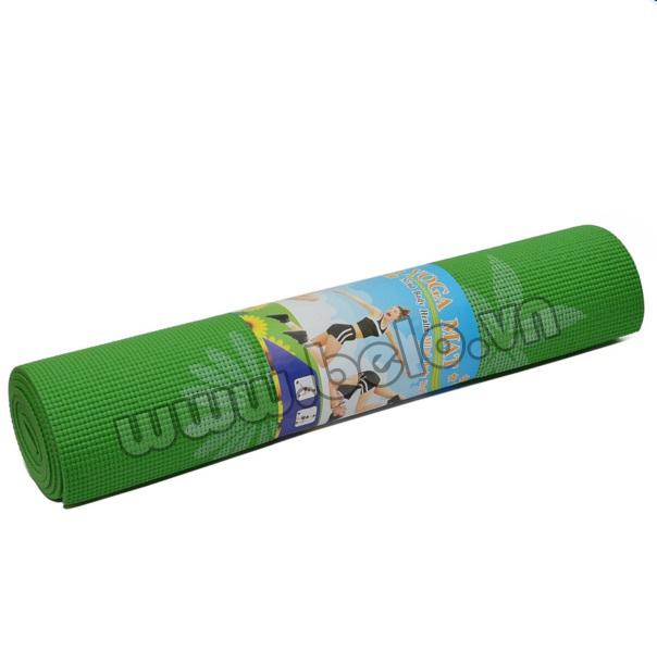 Thảm tập yoga PVC màu xanh lá cây có họa tiết