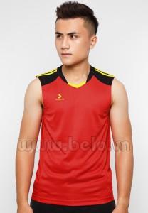 Áo bóng chuyền nam sát nách màu đỏ mã CSN016