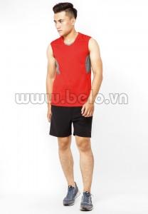 Áo bóng chuyền nam sát nách màu đỏ mã CSN014