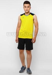 Áo bóng chuyền nam sát nách màu vàng mã CSN017