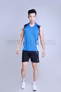 Áo bóng chuyền nam sát nách màu xanh dương mã CSN006
