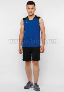 Áo bóng chuyền nam sát nách màu xanh dương mã CSN018
