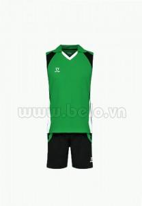 Áo bóng chuyền nam sát nách màu xanh lá mã CSN008