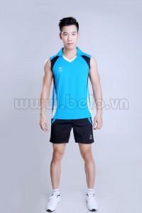 Áo bóng chuyền nam sát nách màu xanh ngọc mã CSN007