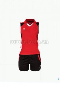 Áo bóng chuyền nữ sát nách màu đỏ mã CSN001