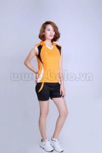 Áo bóng chuyền nữ sát nách màu cam mã CSN002