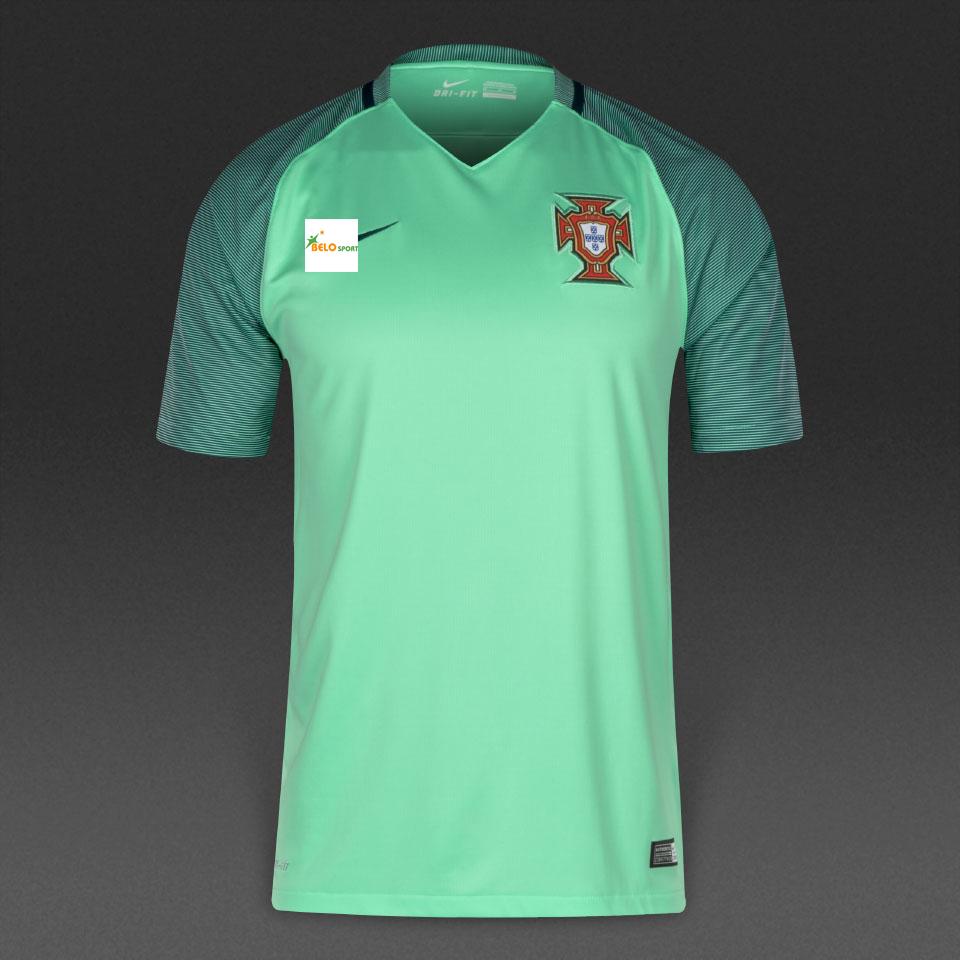 Áo đội tuyển Bồ Đào Nha xanh ngọc 2016-2017 sân khách