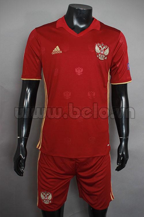 Áo bóng đá đội tuyển Nga đỏ