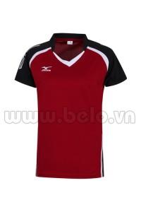 Áo bóng chuyền Mizuno nam màu đỏ đô MN03