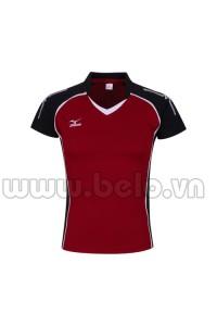 Áo bóng chuyền nữ Mizuno đỏ đô MG02