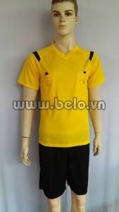Bộ quần áo trọng tài màu vàng