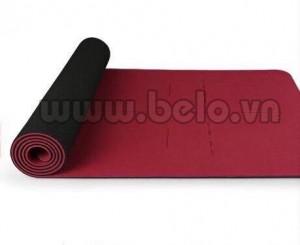 Thảm tập yoga Hatha chính hãng cao cấp màu đỏ đô
