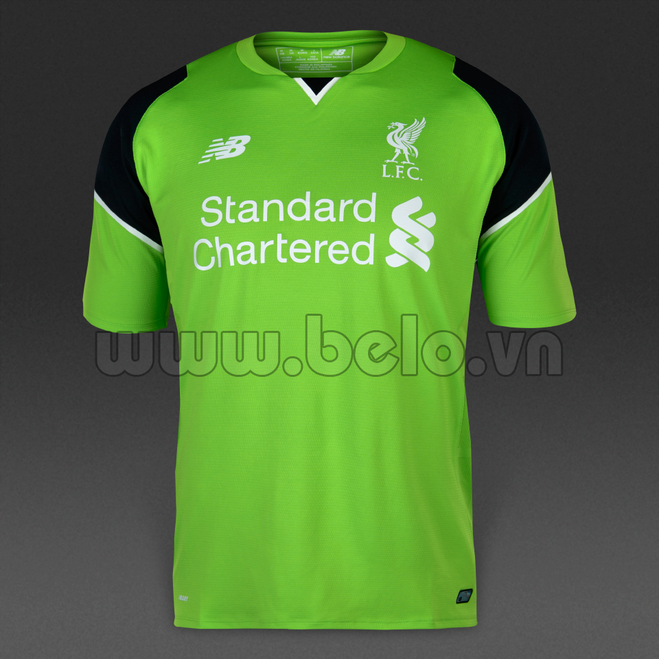 Áo bóng đá CLB Liverpool màu xanh lá năm 2016-2017