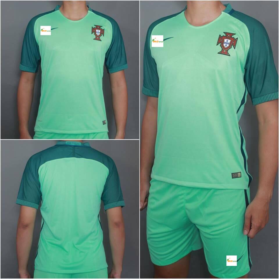 Áo đội tuyển Bồ Đào Nha xanh ngọc EURO 2016