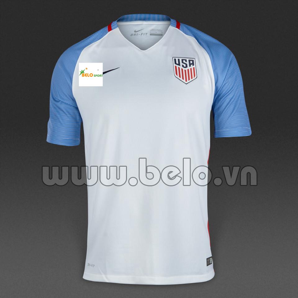 Áo đội tuyển Mỹ (USA) màu trắng sân nhà 2016-2017