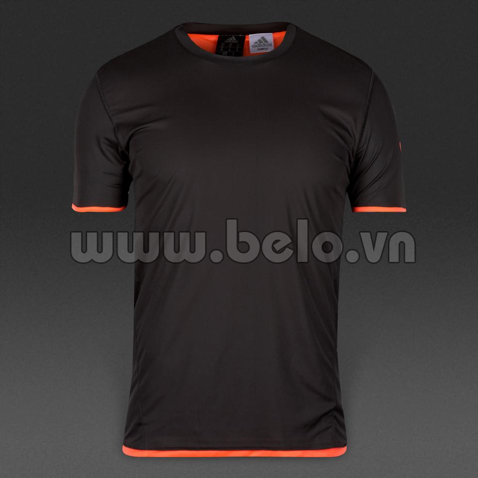 Áo bóng đá không logo cao cấp màu đen N7 2016-2017