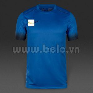 Áo bóng đá không logo màu xanh2016-2017
