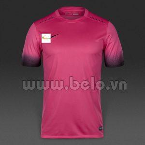 Áo bóng đá không logo màu hồng 2016-2017