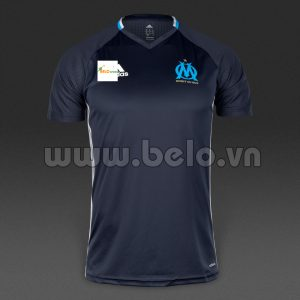 Áo bóng đá Olympic Marseille màu đen 2016-2017.