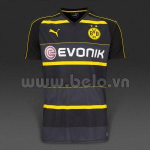 Áo bóng đá Dortmund 2016 – 2017 sân khách màu đen.