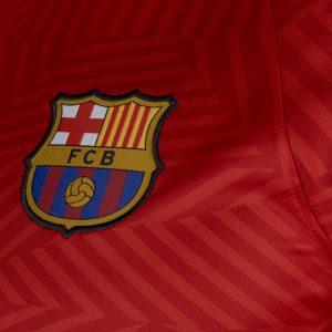 Mẫu áo Barca màu đỏ sân khách 2016-2017