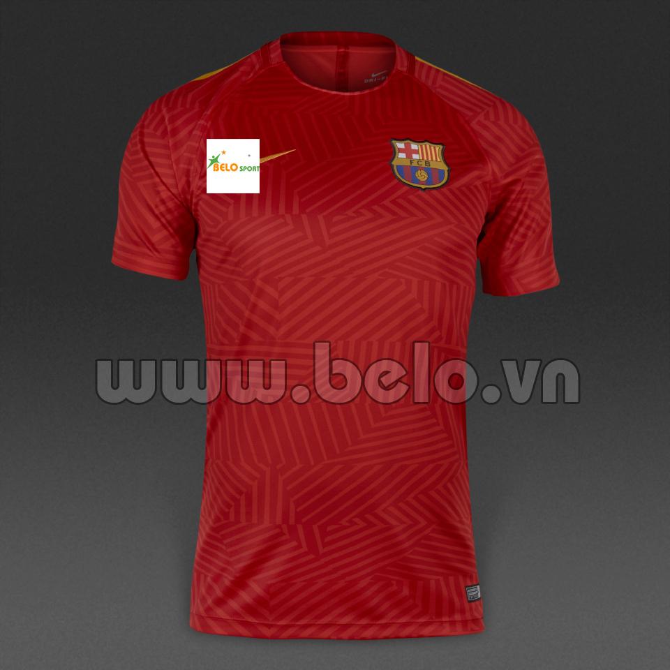 Áo bóng đá Câu lạc bộ Barcelona màu đỏ sân khách 2016-2017